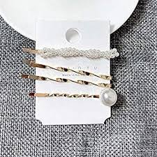 Buy Generic <b>3Pcs</b>/<b>set Pearl Metal Gold</b> Color Hair Clip Bobby Pin ...