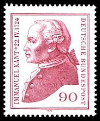 immanuel kant  west german postage stamp 1974 commemorating the 250th anniversary of kant s birth