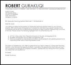 Cover Letter Sample For Assistant Teacher Graduate Teaching