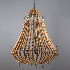 boho natural beaded chandelier