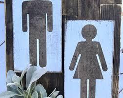 boy and girl bathroom signs. Boy And Girls Signs / Restroom Bathroom Decor Home Humor Girl
