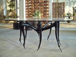 Tapered Coffee Table Legs Unique Table With Circular Shaped Round Tops Made Of Glass And