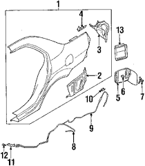 Genuine mitsubishi release cable mit mr525706