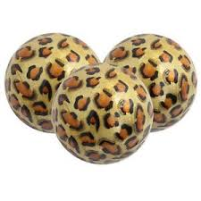 Leopard Decorative Balls 100 DECORATIVE ORBS S100 DECORATIVE BALLSDECORATIVE SPHERES 7