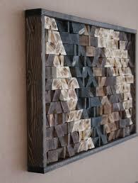 large reclaimed wood wall art wood wall decor headboard geometric pattern wood mosaic geometric art 17x30 gbandwood wooden wall art