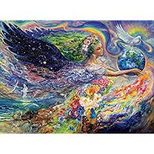 buffalo games josephine wall earth angel 1000 piece jigsaw puzzle on jigsaw puzzle wall art with amazon buffalo games josephine wall earth angel 1000