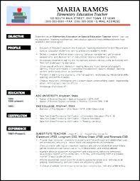 Sample Resume For Teaching Sample Of Teaching Resume Airexpresscarrier Com