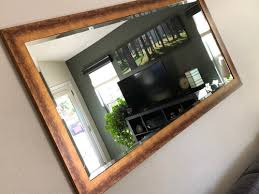 too bright smooth flat gold mirror frame