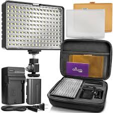 Cn 160 Led Video Light Battery Altura Photo 160 Led Video Light For Dslr Camera And