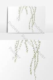 枝編み細工品柳の葉イラスト要素材料 実例のテンプレートpsdの無料で