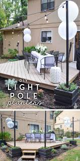 Diy Outdoor Light Pole Planters Free Plans Ugly Duckling House
