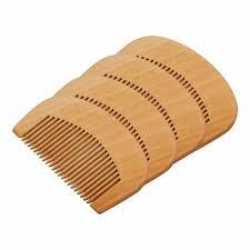 details about 10x unprinted peach wood diy comb close teeth anti static head hair care wooden