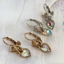 Винтаж: Радужные ангелы, <b>серьги</b> 1928 Jewelry с кристаллами ...