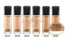 mac matchmaster spf 15 foundation all shades full size 35ml brand new