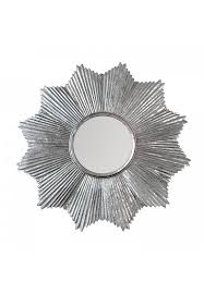 32 decors starburst wall mirror in antiqued silver galvanized iron metal wall