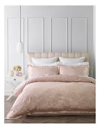 Heritage Danielle Jacquard Quilt Cover Set in Pink | eBay