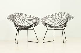 Black Diamond Chairs by Harry Bertoia for Knoll, 1950s, Set of 2 ...
