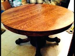 antique oak claw foot pedestal table round oak claw foot