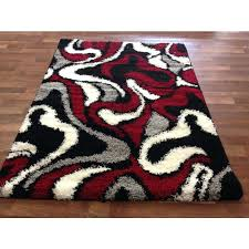 red black grey rug black abstract swirls black gy area rug red white grey accents contemporary swirls pattern modern red black and white rugs