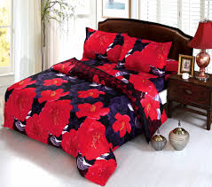 beddingoutle 3d purple and dark red flower bedding set romantic bedclothes 4pcs duvet cover set full queen king size bed set e in bedding sets from home