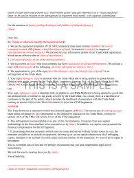 Letter Of Claim Trademark Infringement
