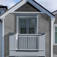 Casapro Französischer Balkon 90x156cm Geländer Fenster Gitter