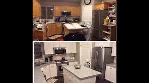 Diy Painting Kitchen Cabinets White Youtube