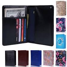details about travel passport holder wallet rfid blocking card case cover doent organizer