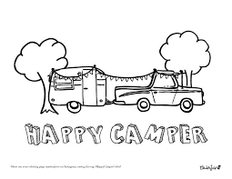 Happy Camper Coloring Page By Modern June Camper Camping