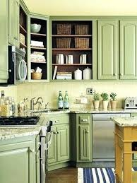 green kitchen cabinets for sale