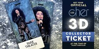 Collectible tickets for real fans. Liveatmgm On Twitter Take Home A Piece Of Cher S Legendary Show With A 3d Collectors Ticket Available Now Https T Co H1kuyw23gv