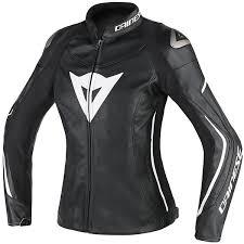 dainese las assen leather jacket black black white thumb 0