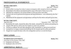 Gallery Of Wildland Firefighting Resume