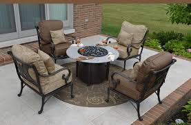 Amalia 4 Person Luxury Cast Aluminum Patio Furniture Chat Set W