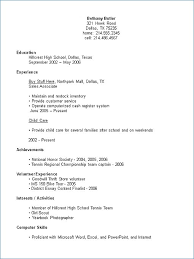High School Senior Resume Template Resume Template High School