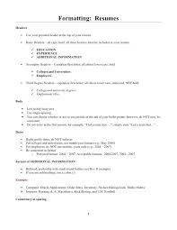 Resume Headers Impressive 60 Formatting Resumes Headers Header For Second Page Of Resume 60