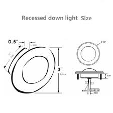 Recessed Can Light Sizes Us 56 52 15 Off 4x3inch Rv Led Recessed Down Light Yacht 12volt Boat Marine Interior Ceiling Roof Lamp Auto Caravan Suv Camper Trailer Motorhome In
