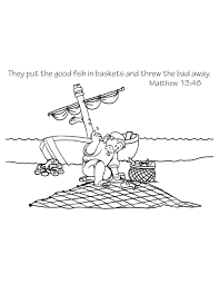 Small Picture Free Bible Coloring Page A Fishermans Net