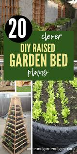 20 awesome diy raised garden bed ideas