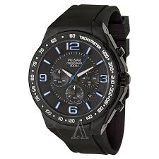 pulsar on the go pt3405 men s watch watches pulsar men s on the go watch