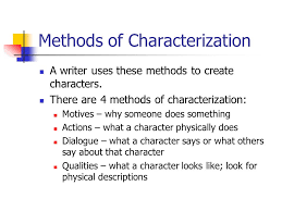 Methods Of Characterization Do Now What Kind Of Factors Go Into The Decision To Obey Or