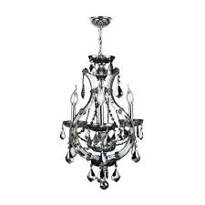 chandeliers smoke crystal chandelier gray chandeliers lighting the home depot lyre 4 light chrome with