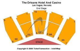 The Orleans Showroom Seating Chart The Orleans Hotel Casino Tickets And The Orleans Hotel