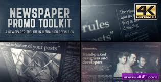 Newspaper Template After Effects Free Videohive Newspaper Black White_cs4 Free After Effects Templates