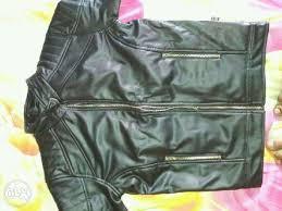 armani leather jacket leather jacket brand new