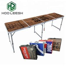 Hot Selling 8-Foot Outdoor Furniture Portable Tailgating Aluminum Folding Beer Pong Table for Party 8-foot