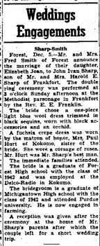 Elizabeth Joan Smith marriage to John Ivan Sharp - Newspapers.com