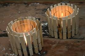diy crafts ideas clothespin candle holder tutorial and rustic home decor
