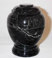 Decorative Urns For Ashes Chapel Hill Memorial Park Large Black Marble Funeral Urn for 84