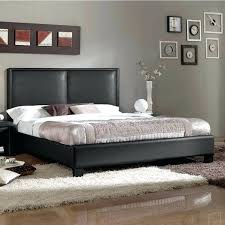 dhp dakota faux leather upholstered platform bed queen black contemporary by studio free modern in